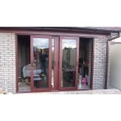 Двери раздвижные ROTO PATIO металлопластиковые WDS 7 SERIES 1530x2355 см
