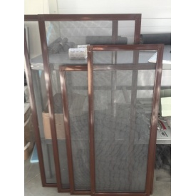 Москитная сетка алюминиевая 800x1300 см коричневая