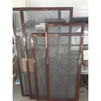 Москитная сетка из алюминиевого профиля 800х1300 см коричневая