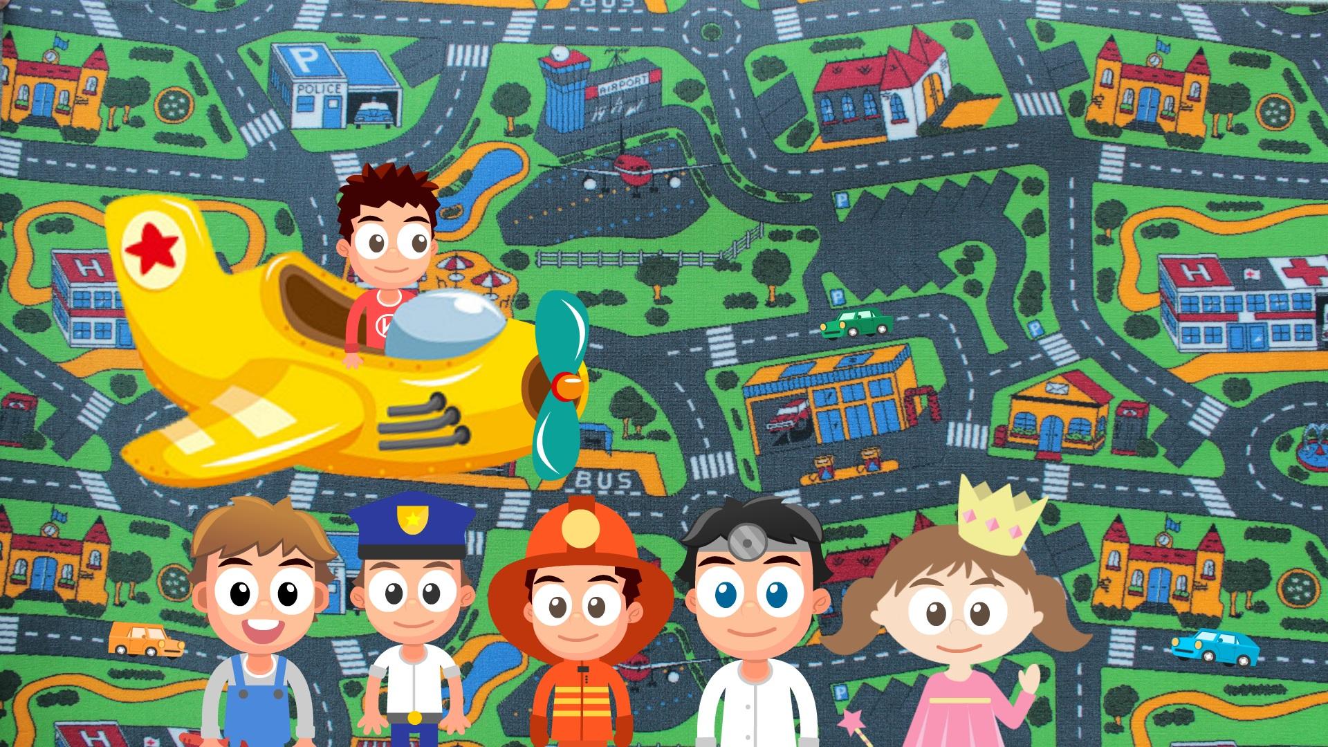 Дитячий ковролін City Life