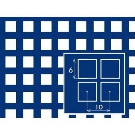 Перфорированный лист PC Qg6 10х1х1000x2000 мм черный