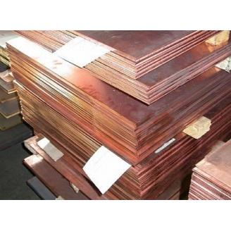 Медный лист М1 600х1500х0,4 мм