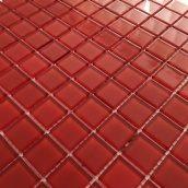 Стеклянная мозаика Керамик Полесье Ред 300х300х4 мм