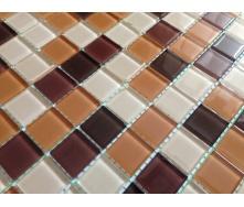 Скляна мозаїка Керамік Полісся Беж мікс 2 300х300х4 мм