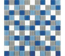 Скляна мозаїка Керамік Полісся Блу Мікс 3 300х300х4 мм