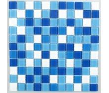 Скляна мозаїка Керамік Полісся Блу Мікс 2 300х300х4 мм
