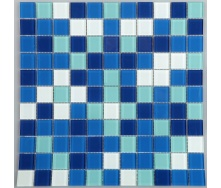 Стеклянная мозаика Керамик Полесье Блу Микс 1 300х300х4 мм