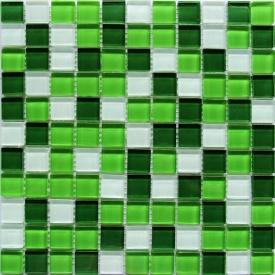 Стеклянная мозаика Керамик Полесье Crystal White Green 300х300х6 мм