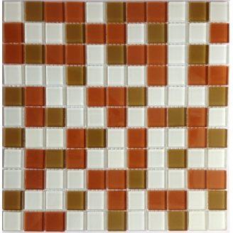 Скляна мозаїка Керамік Полісся Беж мікс 1 300х300х4 мм