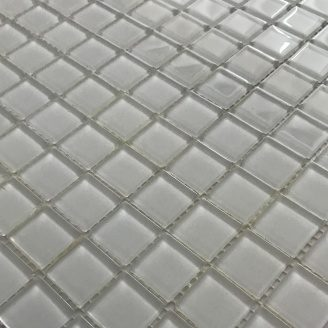 Скляна мозаїка Керамік Полісся Біла 300х300х4 мм