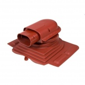 Проходной элемент VILPE SOLAR PELTI 355х460 мм красный