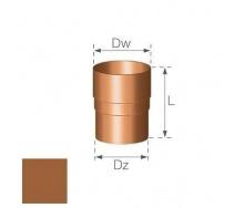 Кольцевой ниппель Gamrat 90 мм медный