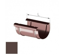 Муфта желоба Gamrat 150 мм коричневая