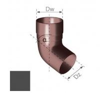 Колено Gamrat 67,5° 90 мм графитовое