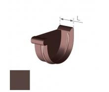 Заглушка левая Gamrat 150 мм коричневая