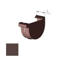 Заглушка правая Gamrat 150 мм коричневая