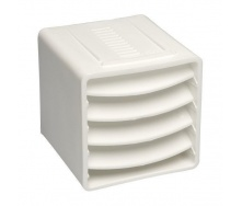 Вентиляционный куб VILPE 85х85х85 мм белый