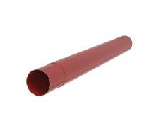 Водосточная труба Акведук Премиум 87 мм 3 м темно-красный RAL 3009