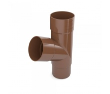 Тройник трубы Bryza 100 245х90,2х90,2х84,5 мм коричневый