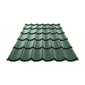 Металочерепиця Ruukki Monterrey Purex 0,5 мм темно-зелений