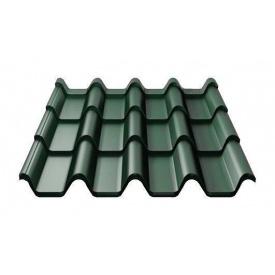 Металочерепиця Ruukki Armorium Pural Matt 0,5 мм темно-зелений