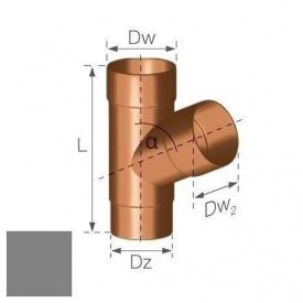 Трійник Gamrat 67,5° 90 мм срібний