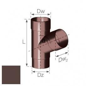 Трійник Gamrat 67,5° 90 мм коричневий