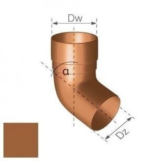 Колено Gamrat 67,5° 63 мм медное