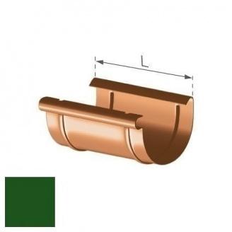 Муфта желоба Gamrat 125 мм зеленая