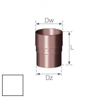 Кольцевой ниппель Gamrat 90 мм белый
