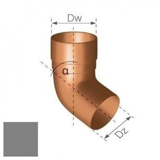 Колено Gamrat 67,5° 90 мм серебряное