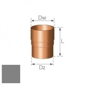 Кольцевой ниппель Gamrat 90 мм серебряный