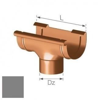 Сливная воронка Gamrat 125/90 мм серебряная