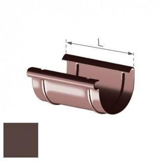 Муфта желоба Gamrat 125 мм коричневая