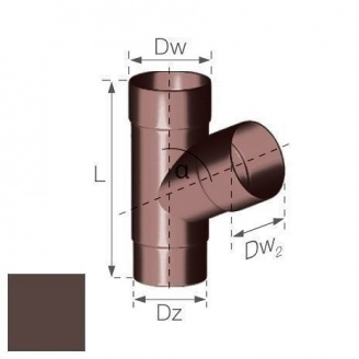 Тройник Gamrat 67,5° 90 мм коричневый