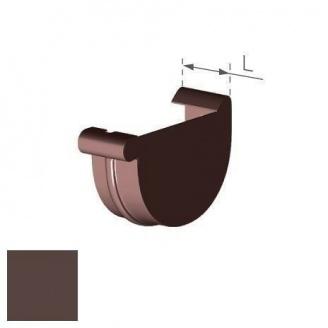 Заглушка правая Gamrat 100 мм коричневая