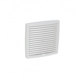 Зовнішня вентиляційна решітка VILPE 150х150 мм біла