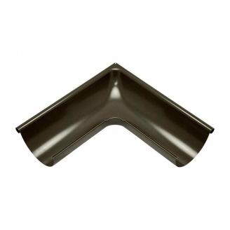 Внешний угол желоба Акведук Премиум 90 градусов 125 мм темно-коричневый RAL 8019