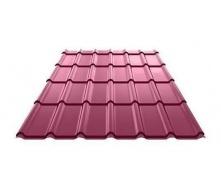 Металлочерепица Ruukki Decorrey Polyester 0,5 мм красное вино