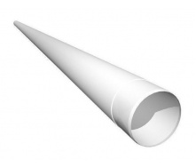Труба водосточная Ruukki 90 мм 4 м белый