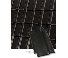 Черепица керамическая Roben Piemont 472х290 мм черно-коричневая глазурованная