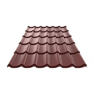 Металлочерепица Ruukki Monterrey Purex 0,5 мм шоколадный