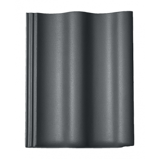 Цементно-песчаная черепица BRAAS Харцер Lumino 420х330 мм графит