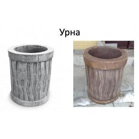 Урна садовая декоративная бетонная Киев-Забор 57х40 см