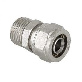 Соединитель обжимной Valtec с переходом на наружную резьбу 16х1/2 мм