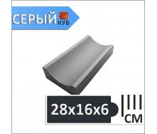 Водосток 28х16х6 см серый