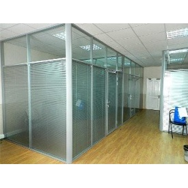 Офисные перегородки Алютех для шумоизоляции с покраской