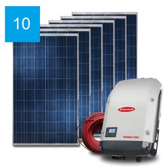 Сетевая солнечная электростанция 10 кВт под Зеленый тариф