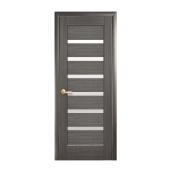 Двери межкомнатные Новый Стиль НОСТРА Линнея со стеклом 500х2000 мм серый