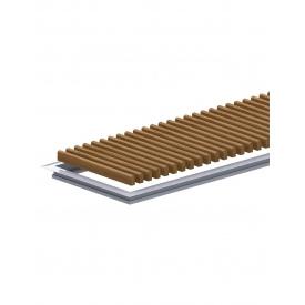 Комплект S рамка з дерев'яною решіткою для конвекторів Carrera 4SV2 Black 120 DC24 295.2500.